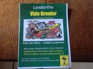 Vide grenier - Landorthe